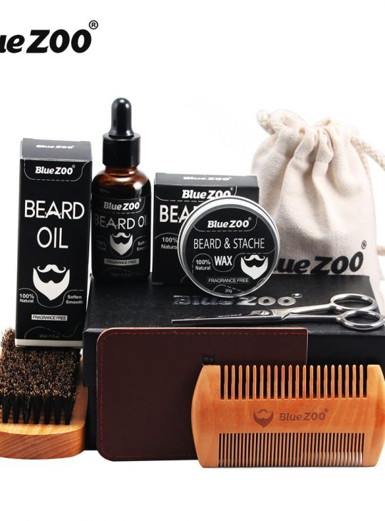 BlueZOO 7pc Beard Oil Care Set