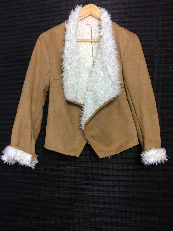 Tan/White Sherpa Jacket