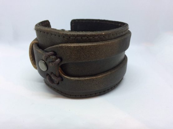 Brown Faux Leather Cuff