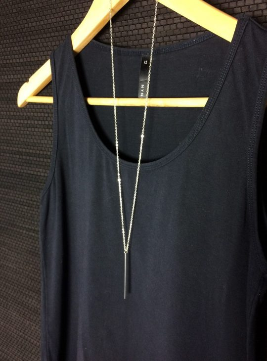 Silver Drop Longline Necklace