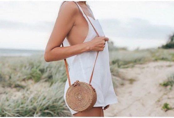 Hand Woven Straw Rattan Bag