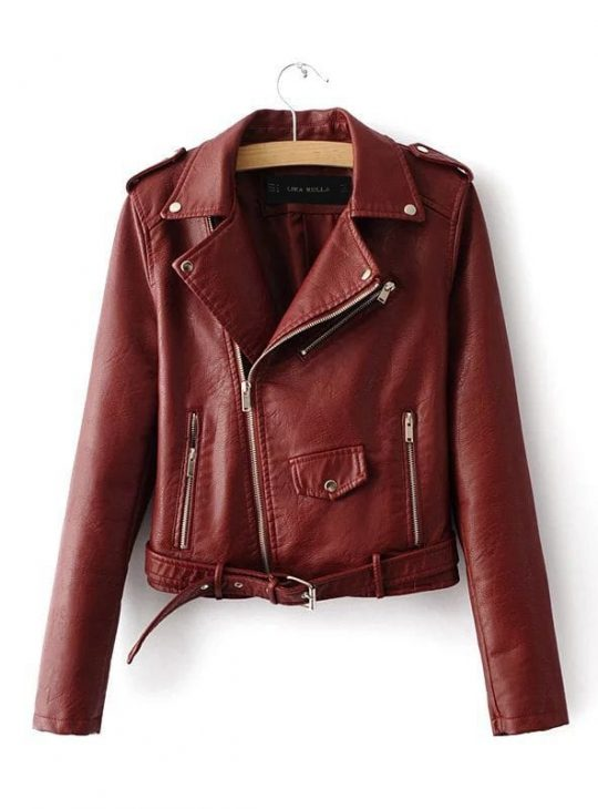 Faux Leather Jacket - Women's