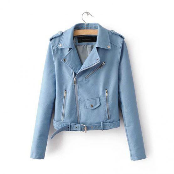 Faux Leather Jacket - Women's