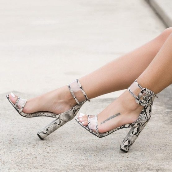 Clear Strap High Heels