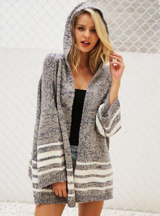 Hooded Sweater / Cardigan