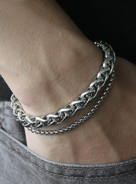 Double Chain Bracelet - Unisex
