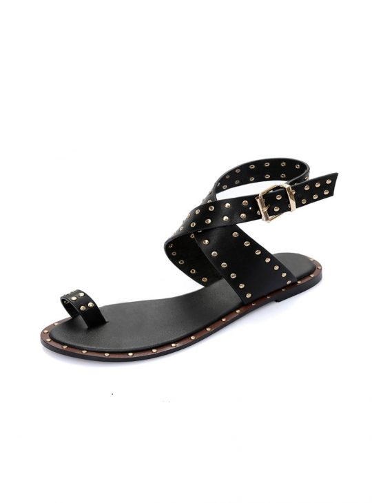 Women's Leather Stud Sandals