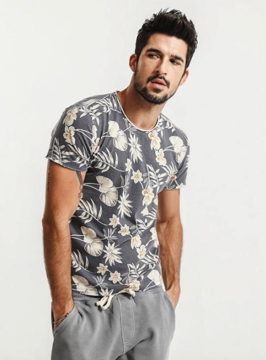 Men's Floral T Shirt