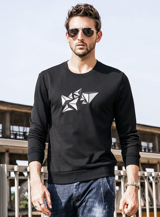 Men's Sweatshirt - Geometric Print