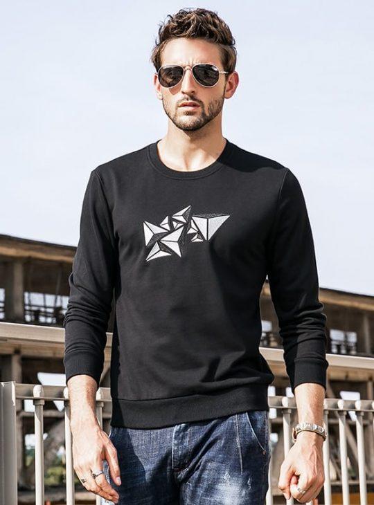 Men's Sweatshirt - Geometric Print
