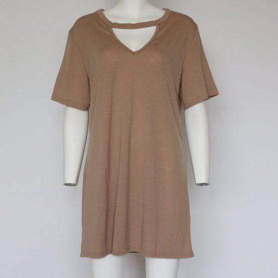 V Neck Cotton Summer Dress
