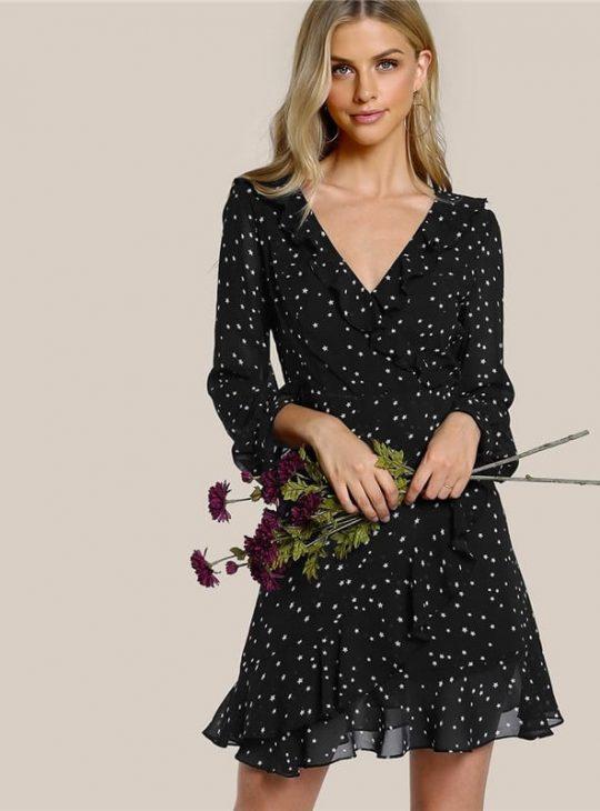 Galaxy Ruffle Dress
