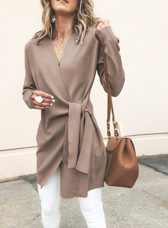 Women's Tie Up Coat