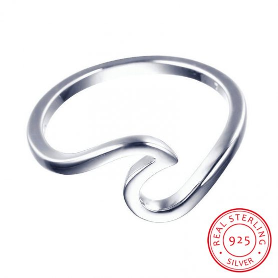 Wave Ring - Sterling Silver