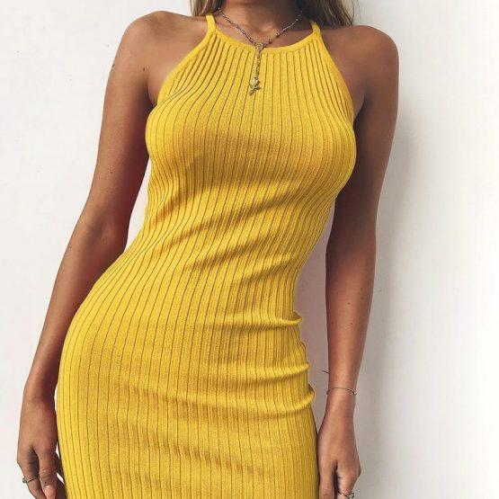 Backless Spaghetti Strap Dress
