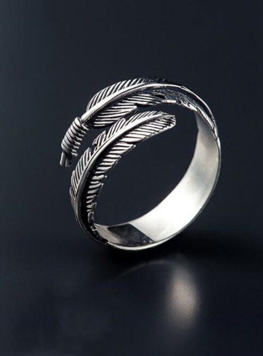 Feathers Arrow Ring