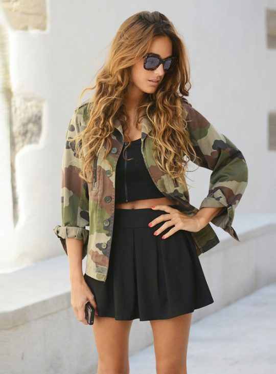 Women's Camo Shirt Jacket
