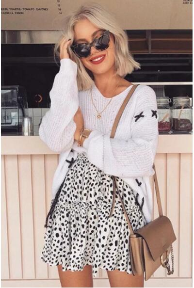 Leopard Mini Swing Skirt