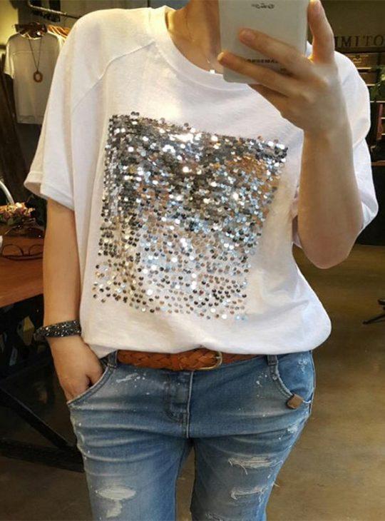 Bamboo Sequin Tshirt