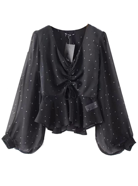 Women's Lantern Sleeve Blouse