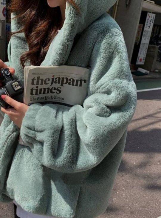 Hooded Faux Fur Teddy Coat