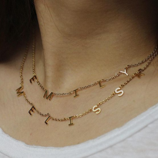 Charm Name Necklace